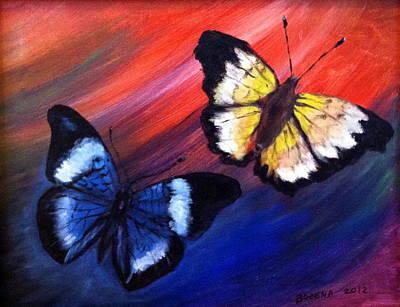 Painting - Butterflies by Bozena Zajaczkowska
