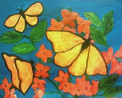 Butterflies Art Print by Christy Saunders Church