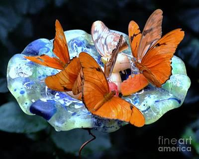Digital Art - Butterflies by Dale   Ford