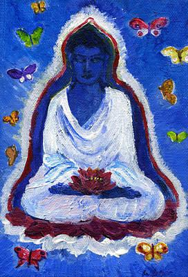 Butterflies Dream Of Buddha Art Print
