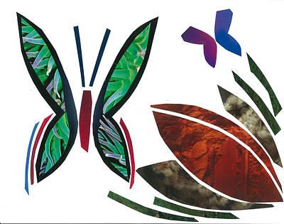 Invertebrates Mixed Media - Butterflies by Earl ContehMorgan
