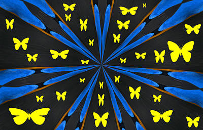 Butterflies Galore Art Print by Karol Livote