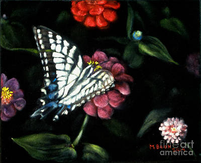 Painting - Butterflies In The Garden No. 1 by Marlene Book