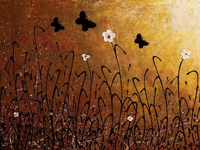 Painting - Butterflies Landscape by Carmen Guedez