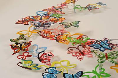 Marina Zlochin Sculpture - Butterflies  by Marina Zlochin