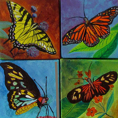 Painting - Butterflies by Susan Duxter