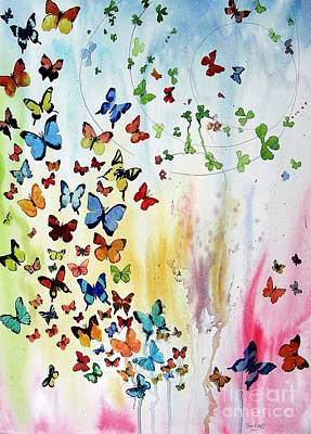 Butterflies Art Print by Tom Riggs