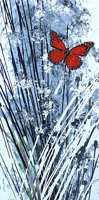 09 Painting - Butterfly 09 by Jack Hanzer Susco
