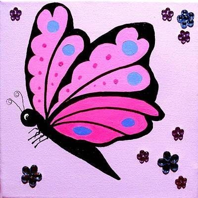 Painting - Butterfly 3 by Anne Gardner
