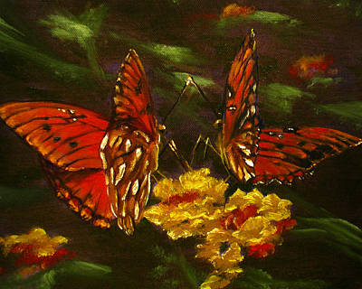 Painting - Butterfly Amore by Sherry Robinson