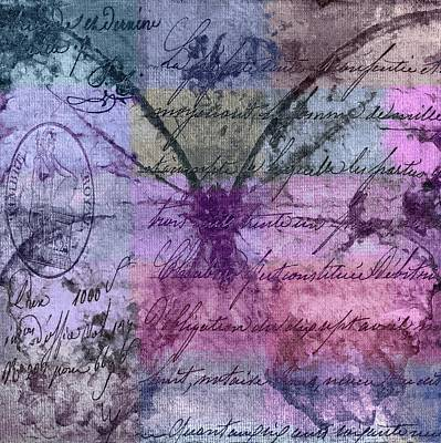 Mauve Digital Art - Butterfly Art - Ab25a by Variance Collections