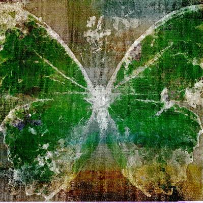 Messy Painting - Butterfly Art - D05t02 by Variance Collections