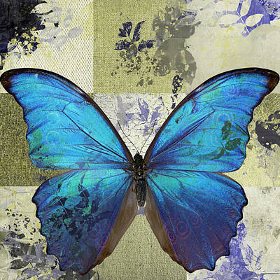 Butterfly Art - S02b Art Print by Variance Collections