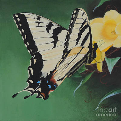 Painting - Butterfly At Work by Jimmie Bartlett