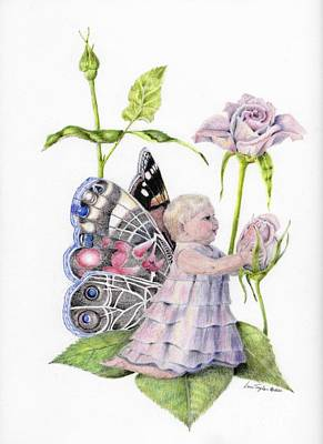 Butterfly Baby Art Print by Laurianna Taylor
