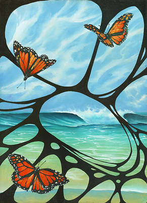 Painting - Butterfly Beach by Harry Holiday