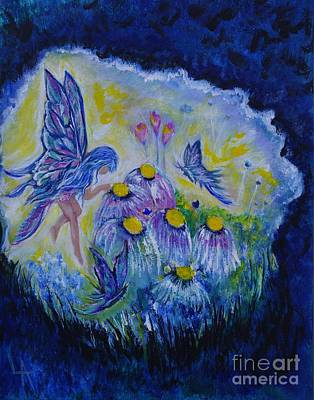 Painting - Butterfly Belle by Leslie Allen