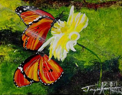Painting - Butterfly Bliss by Jayne Kerr