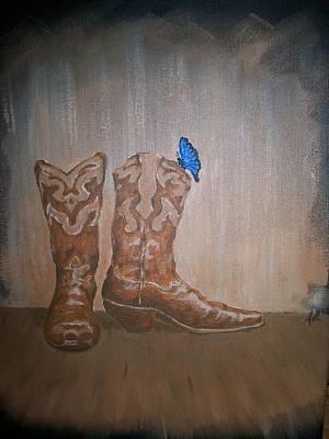 Butterfly Boots Original by Joseph Luna