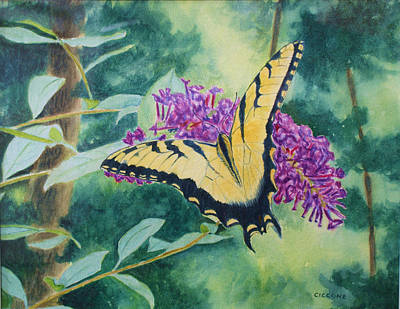 Butterfly Bush Art Print
