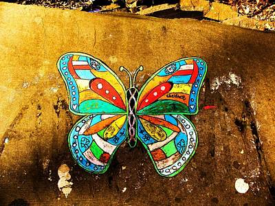Butterfly Art Print by Christian Rooney