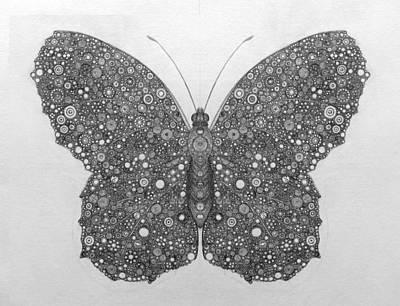 Butterfly Circle Bonanza Art Print