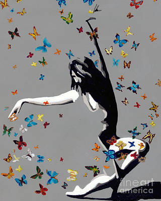 Female Painting - Butterfly Dance by Denise Deiloh