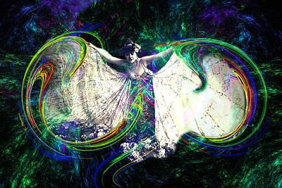 Edwardian Woman Digital Art - Butterfly Dancer by Lisa Yount