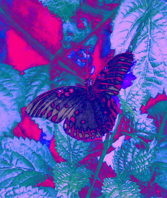 Art Print featuring the painting Butterfly  by David Mckinney