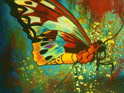 Painting - Butterfly by DG Ewing