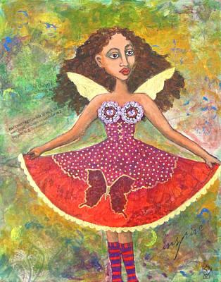 Butterfly Dress Art Print by Sharon Woodward