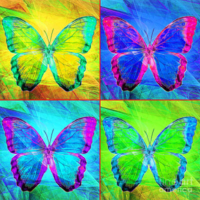 Photograph - Butterfly Dsc2969 Four Square by Wingsdomain Art and Photography
