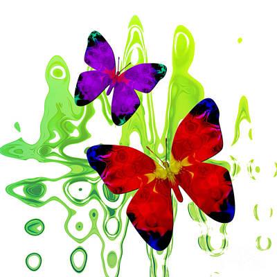 Butterfly Duet - Harmony Art Print