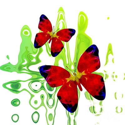 Digital Art - Butterfly Duet by Kristi Kruse