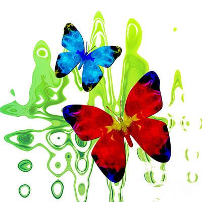 Digital Art - Butterfly Duet - Melody by Kristi Kruse