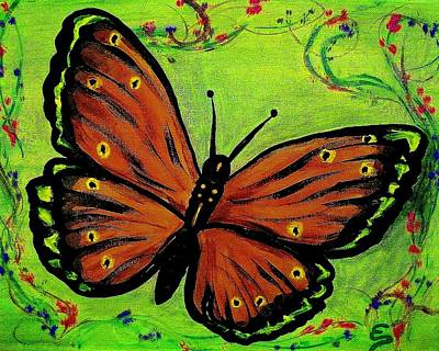 Painting - Butterfly by Edward Pebworth