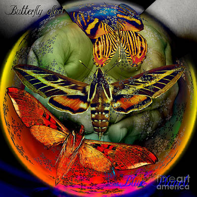 Butterfly Effect Blue Planet Art Print