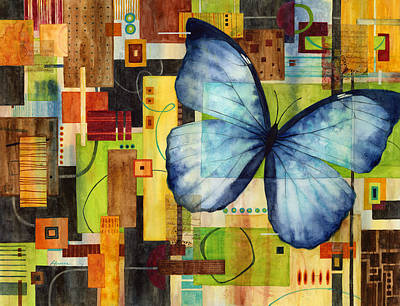 Abstract Pattern Painting - Butterfly Effect by Hailey E Herrera
