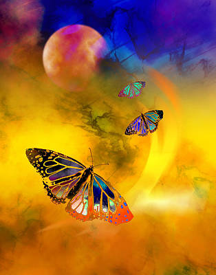 Digital Art - Butterfly Expansion by Bruce Manaka