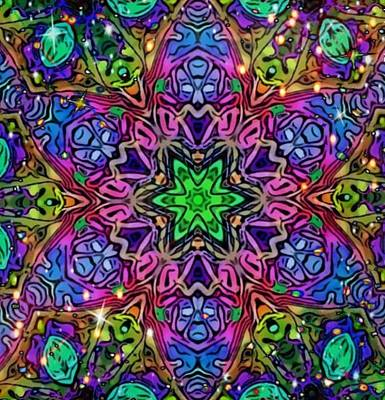 Digital Art - Butterfly Faces Mandala by Karen Buford