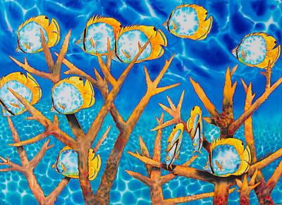 Butterfly  Fish Art Print by Daniel Jean-Baptiste
