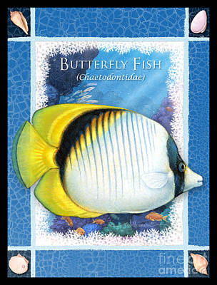 Digital Art - Butterfly Fish by Randy Wollenmann