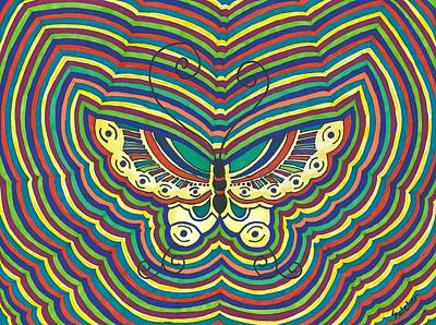 Art Print featuring the painting Butterfly Flutter by Susie Weber