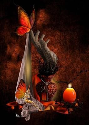 Digital Art - Butterfly Glow Home by Ali Oppy