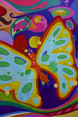 Painting - Butterfly Graffiti     Nyc by Joan Reese