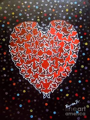 Painting - Butterfly Heart - Acrylic Painting by Priyanka Rastogi