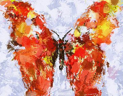 Digital Art - Butterfly Impression 2 by Yury Malkov