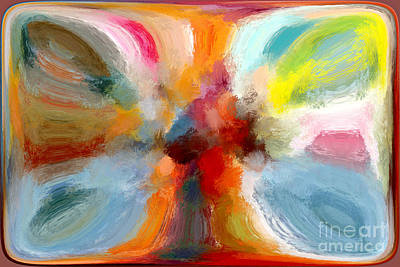 Mixed Media - Butterfly In Abstract by Andrea Auletta