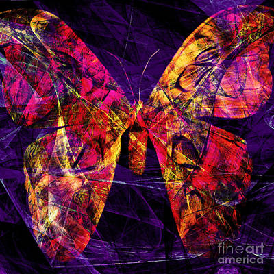 Digital Art - Butterfly In Abstract Dsc2977 Square by Wingsdomain Art and Photography