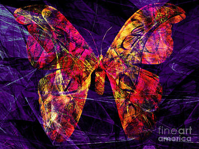 Photograph - Butterfly In Abstract Dsc2977 by Wingsdomain Art and Photography